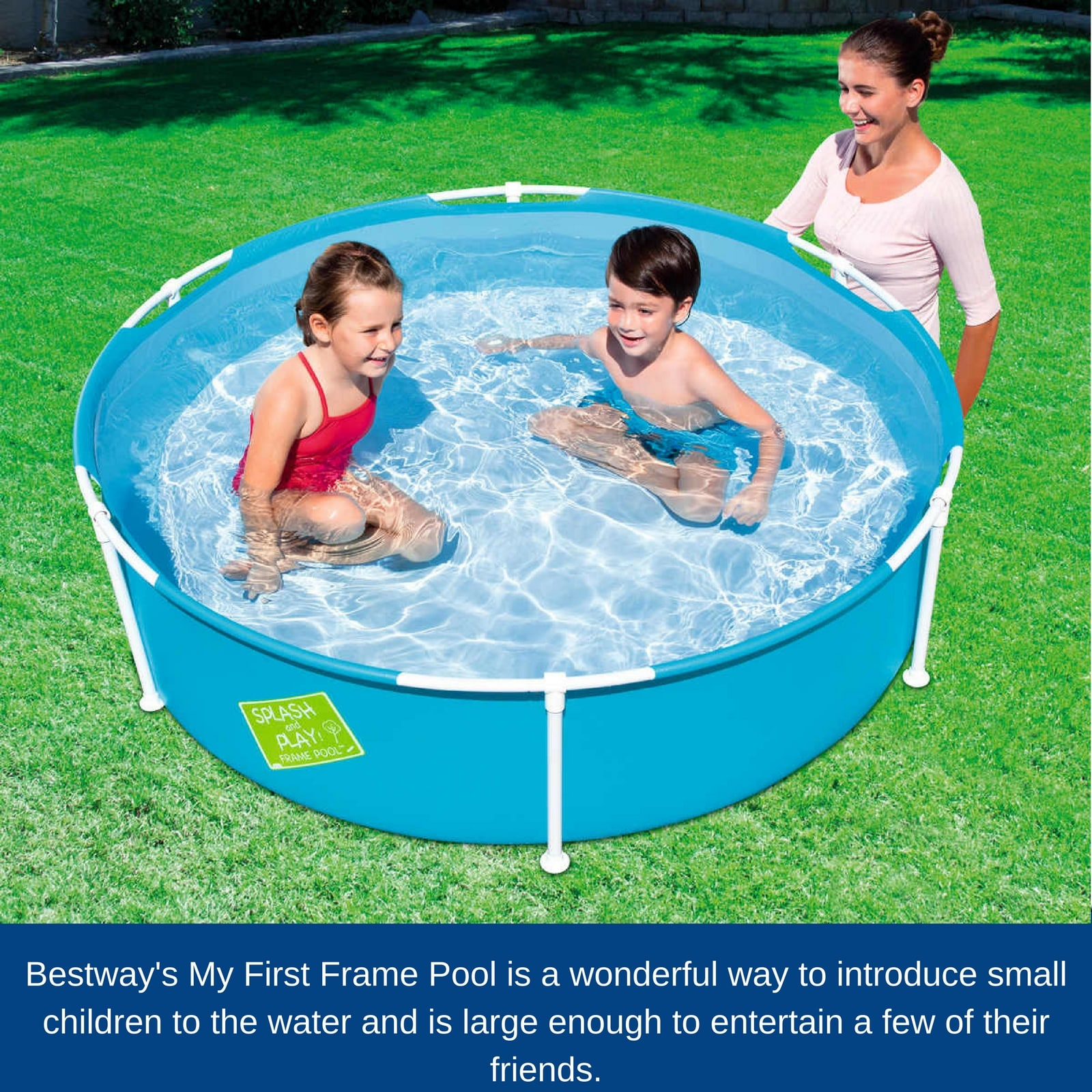 My first frame swimming pool above ground kids family for Garden swimming pool ebay
