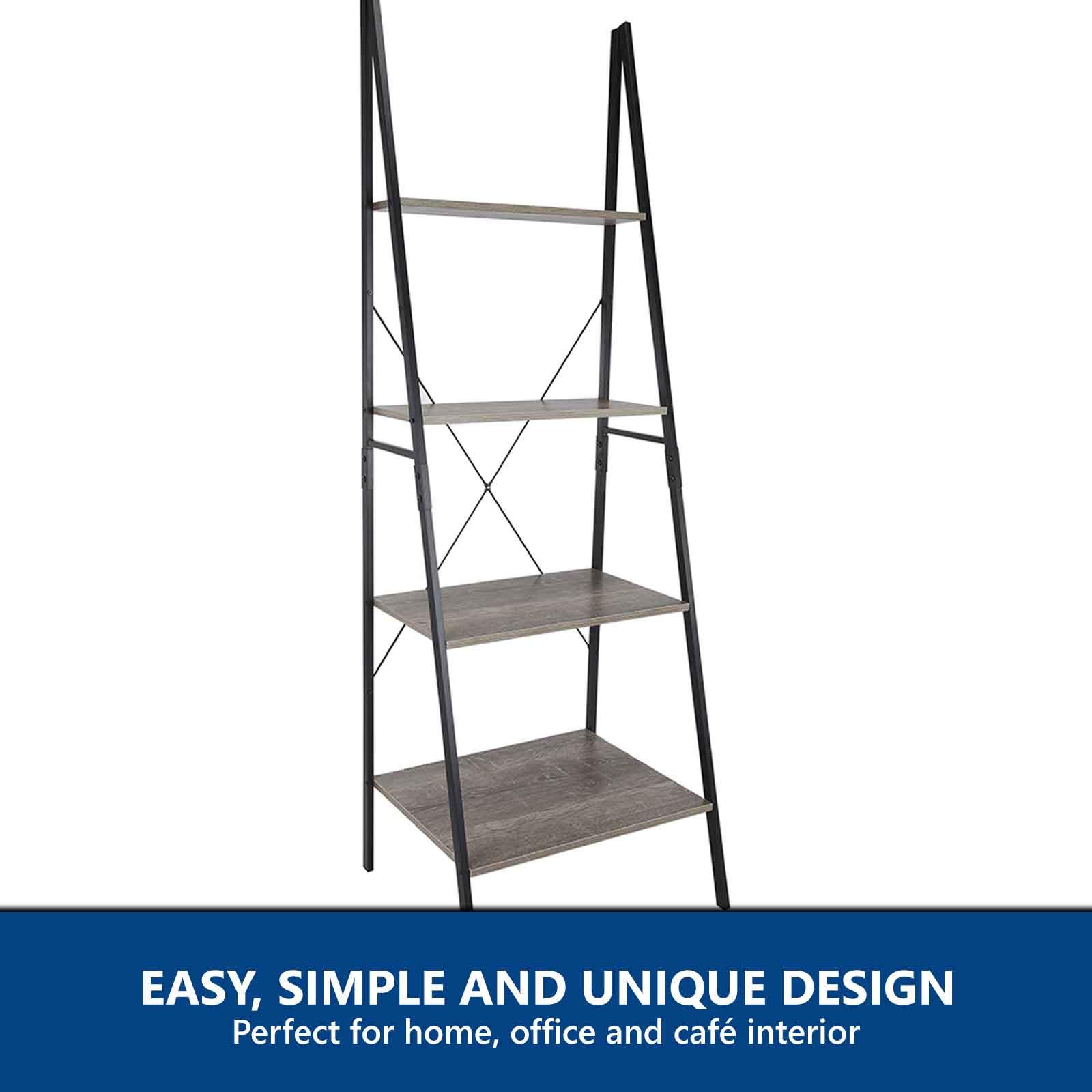 image ladder bookshelf design simple furniture. Industrial Ladder Bookshelf Storage Display Shelf Image Design Simple Furniture A
